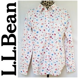 L.L. bean Wrinkle Free Floral Button Down
